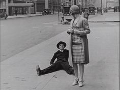 """Buster Keaton takes a fall on his first date in """"The Cameraman"""""""