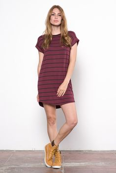 A great basic dress withcuffed sleeves and a slim fit, wear it with your favorite boots and a jacket. Modal Blend Fit:relaxed, slim fit Care Instructions: mac