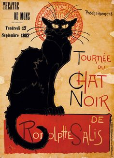Purchase Tournee du Chat Noir Advertising Vintage Poster by Unknown Artist from Canvas Wall Art on OpenSky. Poster Art, Retro Poster, Kunst Poster, Print Poster, Canvas Artwork, Canvas Wall Art, Canvas Prints, Framed Prints, Art Prints