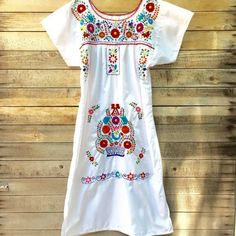 Womenu0027s Embroidered Mexican Dress