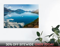 Discover «The blue waters of Lake Wakatipu in New Zealand», Numbered Edition Aluminum Print by Daniela Constantinescu - From $74.9 - Curioos