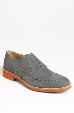$315, Suede Wingtip Grey 105 M by Thomas Dean. Sold by Nordstrom. Click for more info: http://lookastic.com/men/shop_items/109645/redirect
