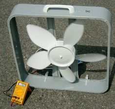 Box Fan Wind Turbine
