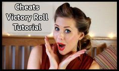 Victory Rolls Tutorial for long hair! Learn how to create this cute vintage up-do in under 5 minutes the cheats way | Victory Rolls Tutorial