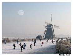 Winter in Holland Old Windmills, Holland Netherlands, I Amsterdam, Winter Magic, Winter Photos, Winter Scenery, Le Moulin, Wonders Of The World, Dutch