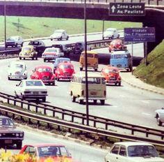 23 de Maio avenue in 1979 - Sao Paulo, Brazil