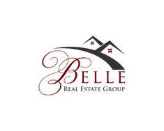 Logo Design For Belle Real Estate Group Real Estate Branding, Real Estate  Business Cards,