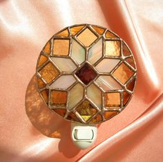 Harvest Stained Glass Night Light by hobbymakers on Etsy, $21.00