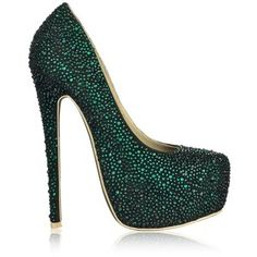Emerald Glitz...if only my knees would allow me to walk in a shoe like this....maybe if I just stand in one place the entire time i wear these!
