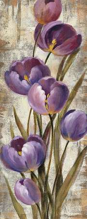 Silvia Vassileva Poster Print Wall Art Print entitled Royal Purple Tulips II Crop, None Acrylic Flowers, Abstract Flowers, Watercolor Flowers, Watercolor Art, Painting Abstract, Easy Flower Painting, Flower Paintings, Canvas Art Quotes, Purple Tulips
