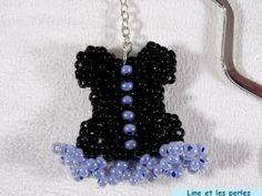 Marque-page corset noir et bleu