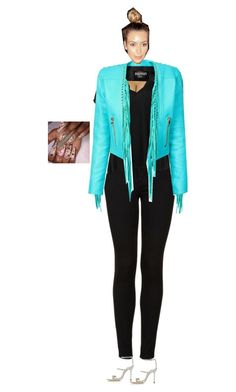 """This jacket tho!"" by a-andm ❤ liked on Polyvore featuring moda, Topshop, Free People, Sophia Webster, Balmain y Nikki Rich"