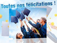 Jette ta toge en l'air, les exam, c'est fini ! Féliciter l'heureux diplômé à votre façon avec nos cartes examen félicitations ! Disponibles sur http://www.starbox.com/carte-virtuelle/carte-examens/carte-examens-felicitations !