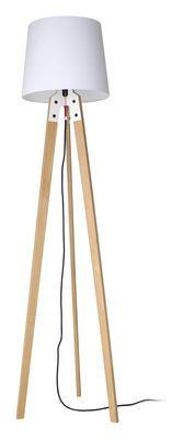 Stehleuchte n1 Floor lamp - H 178 cm Natural & White by Artificial - Pop Corn
