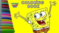 SpongeBob Coloring Page for Kids / Educational for Kids / Watch SpongeBo...