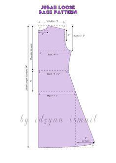 Proud Sewist : Pola Dress Layer / Layer Dress PatternIdeas dress pattern sewing women for 2019 Motif Abaya, Abaya Pattern, Clothing Patterns, Sewing Patterns, Sewing Clothes Women, Dress Making Patterns, Pattern Making, Pattern Cutting, Modelista
