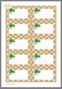 Printable Labels, Free Printables, Canning Recipes, Preserves, Paper Crafts, School, Pattern, Hand Soaps, Ideas