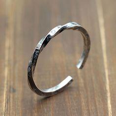 Men's Sterling Silver Twisted Cuff Bracelet
