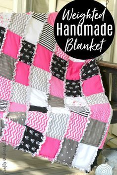 b5e5f3140 This rag quilt styled DIY weighted blanket tutorial gives you a bit of  comforting weight while