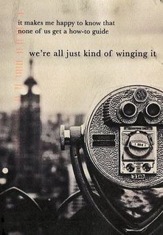 If only all of us were happy with winging it...what world that would be!