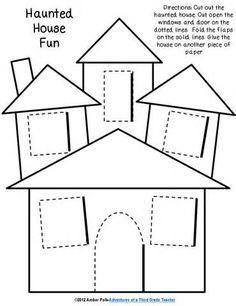 They Had To Cut Out The House And On Dotted Lines Create