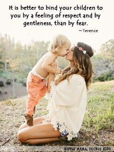Parent with gentleness and respect. #positiveparenting #mindfulparenting