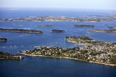 The Gulf of Morbihan: inland sea dotted with islands, the two largest: the Ile aux Moines, Ile d'Arz