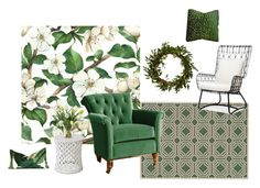 """green"" by inspiredlifeinteriors on Polyvore featuring interior, interiors, interior design, home, home decor, interior decorating, Palecek, Anthropologie and Diane James"
