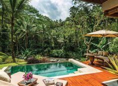 Four Seasons Resort Bali at Sayan Sayan, Indonesia Honeymoon Jungle Luxury Pool tree table outdoor swimming pool property Resort backyard Villa eco hotel Garden colorful furniture