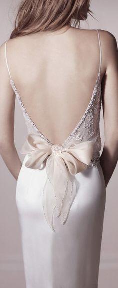 sexy back #bride #bridal #dress