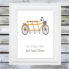 Hey, I found this really awesome Etsy listing at http://www.etsy.com/listing/127754799/custom-family-bicycle-multiple-seat-art