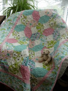 Hugs and Kisses Baby Quilt   X's and O's Baby by WoodenNeedleNook, $142.00