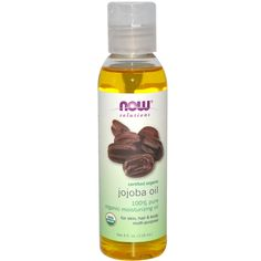 Now Foods, Solutions, Certified Organic, Jojoba Oil, 4 fl oz (118 ml) - iHerb.com