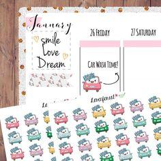 car wash sticker, planner sticker car wash, car sticker, car wash planner sticker, happy planner sticker, erin condren , life planner, D0034