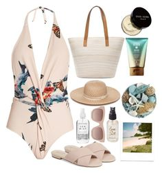 """☀️"" by burcaak ❤ liked on Polyvore featuring Katie Eary, Bobbi Brown Cosmetics, Seychelles, Chico's, Collection XIIX, Pier 1 Imports, STELLA McCARTNEY, Olivine, Summer and swimwear"
