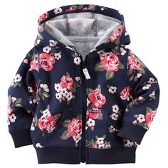 Baby Girl French Terry Cardigan | Carters.com