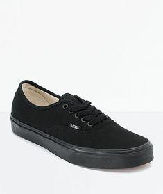 ac68d82e7af0 Vans Authentic Black Canvas Skate Shoes