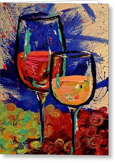 Wine-o 2 Greeting Card by Lee Walker