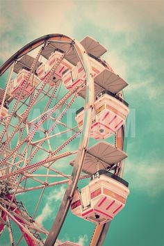 Vintage Ferris Wheel Photographic Print by SeanPavonePhoto at Art.co.uk