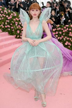 Every Single Look From The 2019 Met Gala : Madelaine Petsch In Jean Paul Gaultier - Every Must-See Look From The 2019 Met Gala Red Carpet - StyleBistro Lady Gaga won the night, naturally. Anna Wintour, Jean Paul Gaultier, Madelaine Petsch, Moschino, Pink Carpet, Red Carpet Looks, Cheap Carpet, Natasha Lyonne, Costumes