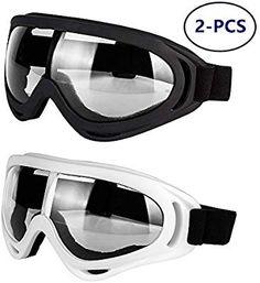 ff052bc039 Amazon.com  LJDJ Motorcycle Goggles - Glasses Set of 2 - Dirt Bike ATV
