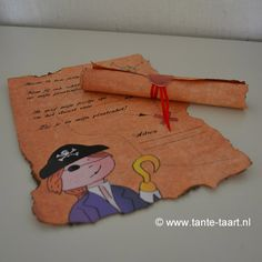 Piraten uitnodiging #kinderfeestje #piratenfeestje