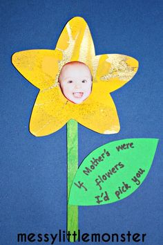 Messy Little Monster: Spring Flower Craft : If Mothers Were Flowers I'd Pick You