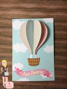 Convite Balão 3D | Abracadabra Personalizados | Elo7