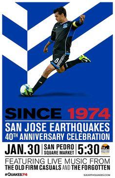 best website 2f720 c0b40 San Jose Earthquakes, Major League Soccer, 40th Anniversary, Rsvp, Hawks,  Fun
