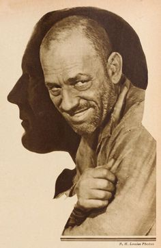 Lon Chaney double exposure by Ruth Harriet Louise. See more at: https://www.facebook.com/LonChaneySrManOf1000Faces
