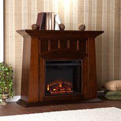 Lowery Electric Fireplace, Espresso