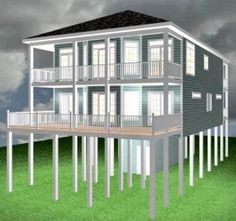 Waterfront out of bank foreclosure key west style for Inverted beach house plans