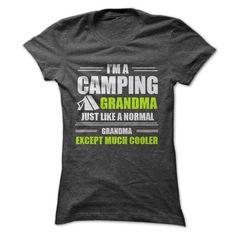 CAMPING GRANDMA T Shirts, Hoodies. Check price ==► https://www.sunfrog.com/Outdoor/CAMPING-GRANDMA-Ladies.html?41382 $19.99
