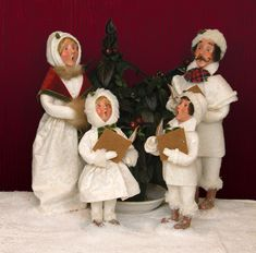 Byers' Choice Winter White Family Inv # 2937-2940